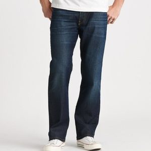 Lucky Brand mens 42 x 32 straight dark jeans